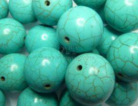 18mm márványos világos türkiz gyöngy
