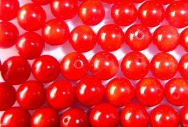 6mm piros korall gyöngy