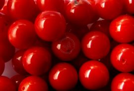8mm piros coral gyöngy