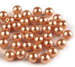 8mm plastic viaszos tekla gyöngy - s. narancssárga 10g