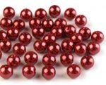 8mm plastic viaszos tekla gyöngy - piros 10g