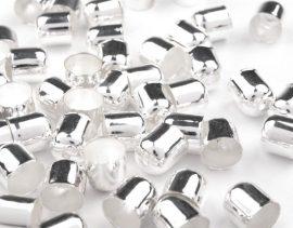 Ezüst színű gyöngykupak nagy