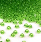 Zöld színű üveg kásagyöngy 10/0 - Preciosa - 10g