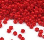 Pirosfehér cseh üveg kásagyöngy 11/0 - Preciosa