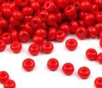 Piros cseh üveg kásagyöngy 8/0, 3mm