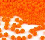 Világos narancssárga cseh üveg kásagyöngy 11/0 - Preciosa - 10g