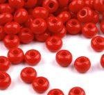 Piros Preciosa kásagyöngy 6/0 - 4 mm