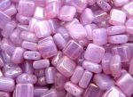 Lüszteres Pink/Topáz Tejes - CzechMates Tile 6mm