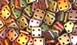 Matt Metál Ír bronz - négylyukú négyzet
