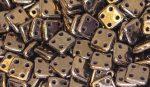 Sötét bronz - négylyukú négyzet