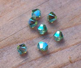 Peridot AB2x - Swarovski Elements Bicone 4mm
