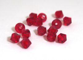 Light siam - piros - Swarovski Elements Bicone 30db 4mm