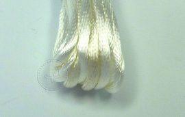 Fehér - szatén zsinór 2mm vastag, 1m darab