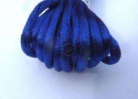 Kék - szatén zsinór 2mm vastag, 1m darab