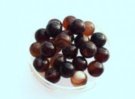 Agate füstös üveg gyöngy - barna