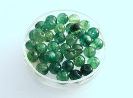 Agate jég üveg gyöngy - zöld 6mm