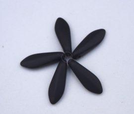 Matt Fekete - cseh tőr gyöngy - 10db sziromnak 5/16mm