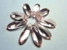 Rózsa - cseh tőr gyöngy - sziromnak 3/10mm