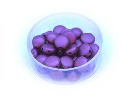 Preciosa Candy kétlyukú gyöngy 8mm - pasztel burgundy