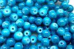 Üveg gyöngy márványos türkiz 6mm - 10db