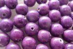 8mm Hegyi jade gyöngy - lila