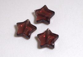 Üveg gyöngy csillag alakú - 12mm - ametiszt
