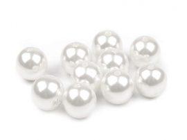 12mm fehér tekla gyöngy - plastic