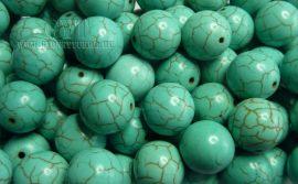 14mm márványos világos türkiz gyöngy