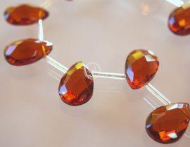 Üveg gyöngy könnycsepp - 12x18mm - barna