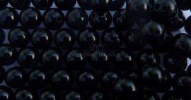 Márvány fekete 6mm gyöngy