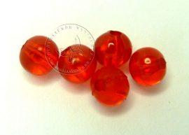 6mm piros gyöngy - plastic