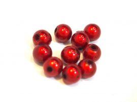 6mm piros miracle gyöngy - plastic