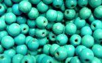 6mm márványos világos türkiz gyöngy 10db