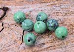 Márványos zöld 6mm gyöngy