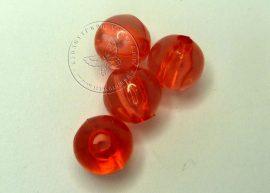 8mm piros gyöngy - plastic