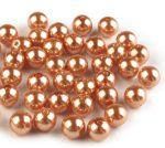 8mm plastic viaszos tekla gyöngy - rézsárga 10g