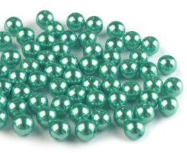 8mm plastic viaszos tekla gyöngy - menta 10g