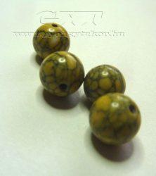 Márványos török sárga 8mm gyöngy