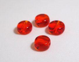 Üveg gyöngy kerek -narancs, 10db, 8mm