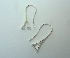 Ezüst színű különleges fülbevaló alap - Swarovski kristályokhoz