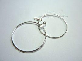 Karika memória fülbevaló alap - 2,5cm
