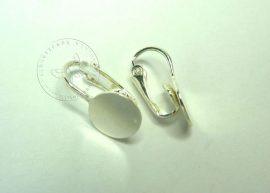 Ezüst  fülbevaló alap - klipsz