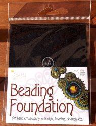 Beadsmith gyöngyhímző kézimunka alap 10,8x14cm - Fekete 1db/csomag