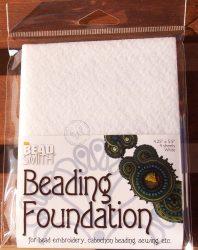 Beadsmith gyöngyhímző kézimunka alap 10,8x14cm - Fehér 4db/csomag