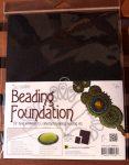 Beadsmith gyöngyhímző kézimunka alap 21,5x28cm - Fekete 1db/csomag