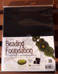 Beadsmith gyöngyhímző kézimunka alap 21,5x28cm - Fekete 4db/csomag