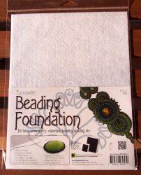 Beadsmith gyöngyhímző kézimunka alap 21,5x28cm - Fehér 1db/csomag