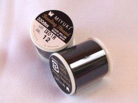 Miyuki minőségi gyöngyfűző cérna - fekete