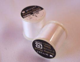 Miyuki minőségi gyöngyfűző cérna - fehér