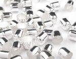 Ezüst színű gyöngykupak 8mm - 2db